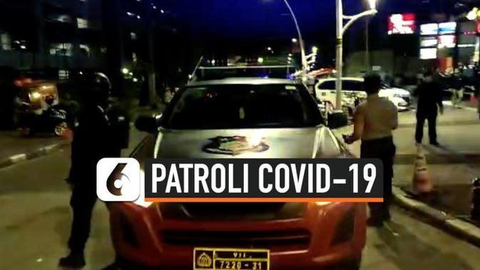 VIDEO: Polisi Patroli Sosialisasi Penyebaran Virus Corona Covid-19 di Jaksel