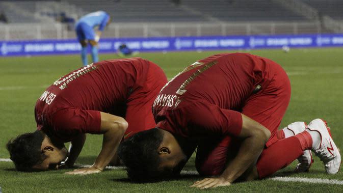 Bek Timnas Indonesia U-22, Asnawi Mangkualam. (Bola.com/M Iqbal Ichsan)