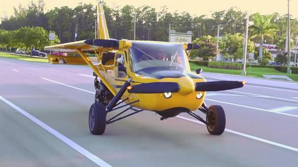Plane Driven roadable aircraft hits the streets, oddly