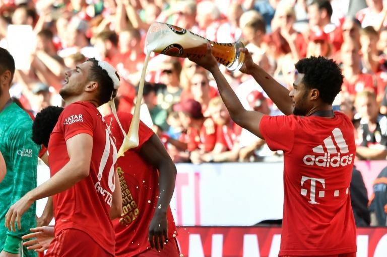 Due to hygiene measures, there will be no repeat of the traditional beer showers should Bayern Munich win the Bundesliga title on Tuesday