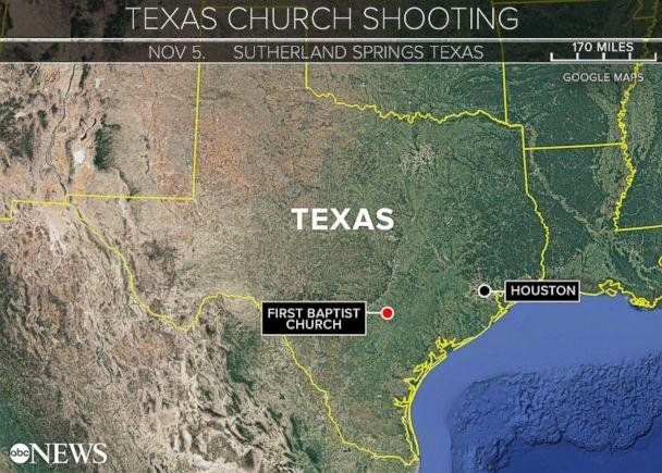 PHOTO: Sutherland Springs, Texas, was the scene of a church shooting, Nov. 5, 2017. (ABC News)