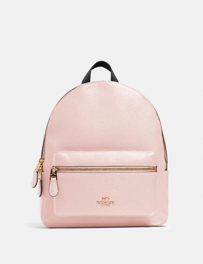 Medium Charlie Backpack. Image via Coach.