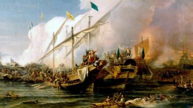 VIVA Militer: Lukisan Pertempuran Preveza 1538 karya Ohannes Umed Behzad
