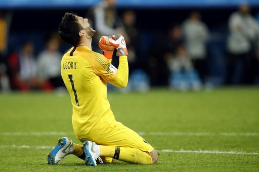 France goalkeeper Hugo Lloris celebrates victory against Belgium in the World Cup semi-final
