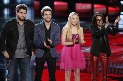The Swon Brothers, Danielle Bradbery and Michelle Chamuel on 'The Voice' finale, June 18, 2013 -- NBC