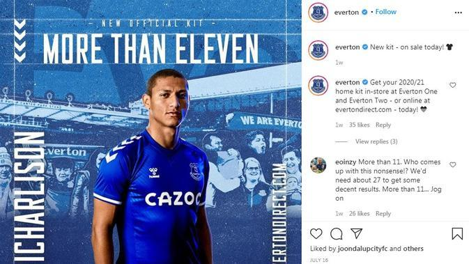 Seragam Everton. (Instagram)
