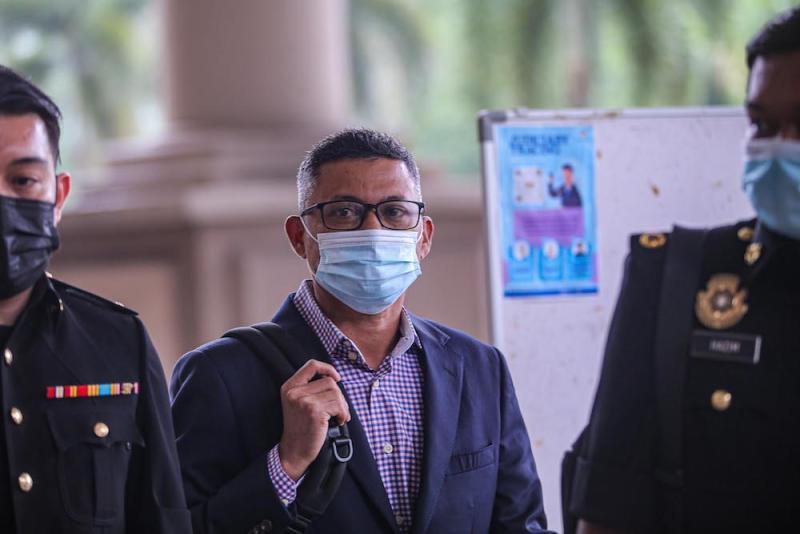 Former 1MDB CEO Mohd Hazem Abd Rahman at the Kuala Lumpur Court Complex, September 14, 2020. ― Picture by Hari Anggara
