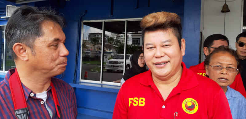 PSB Youth chief Johnical Rayong said the state government should make public the terms and conditions of the state sales tax (SST) payment. — Picture by Sulok Tawie