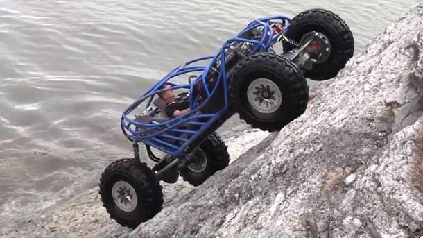 Rock-bouncing 500-hp buggy climbs sheer cliff face, because it's there
