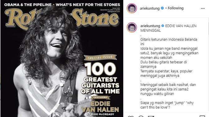 Eddie Van Halen (Foto: Instagram/@ariekuntung)