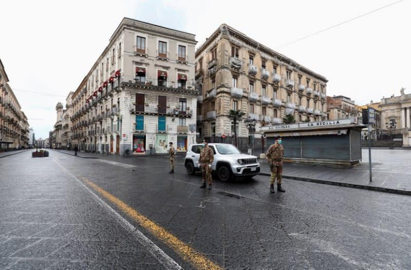 Italy reinforces lockdown measures to combat coronavirus disease (COVID-19) in Catania