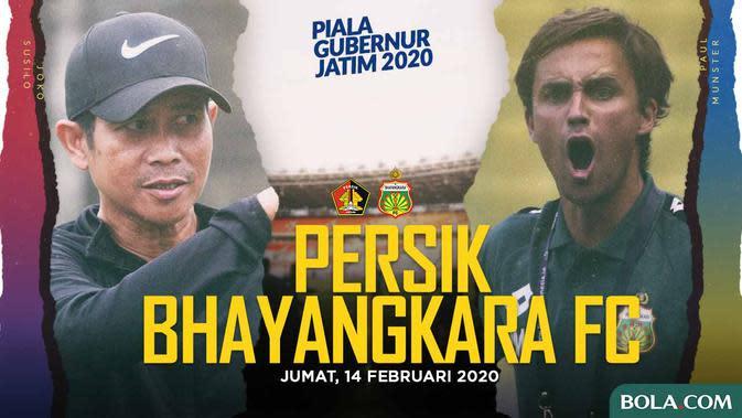 Piala Gubernur Jatim - Persik Vs Bhayangkara FC - Head to Head (Bola.com/Adreanus Titus)
