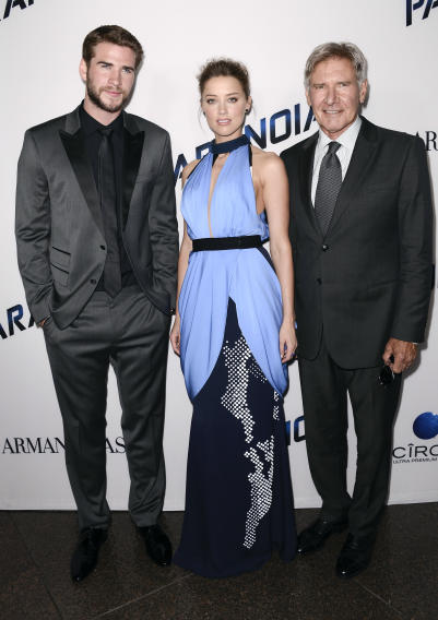 Liam Hemsworth, Amber Heard, Harrison Ford