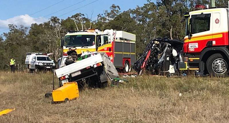 Girl, 8, and man dead after horror crash on Bruce Highway
