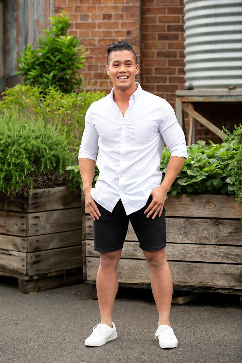 Contestant Derek Lau, whose family is from Hong Kong. Photo: Channel Ten