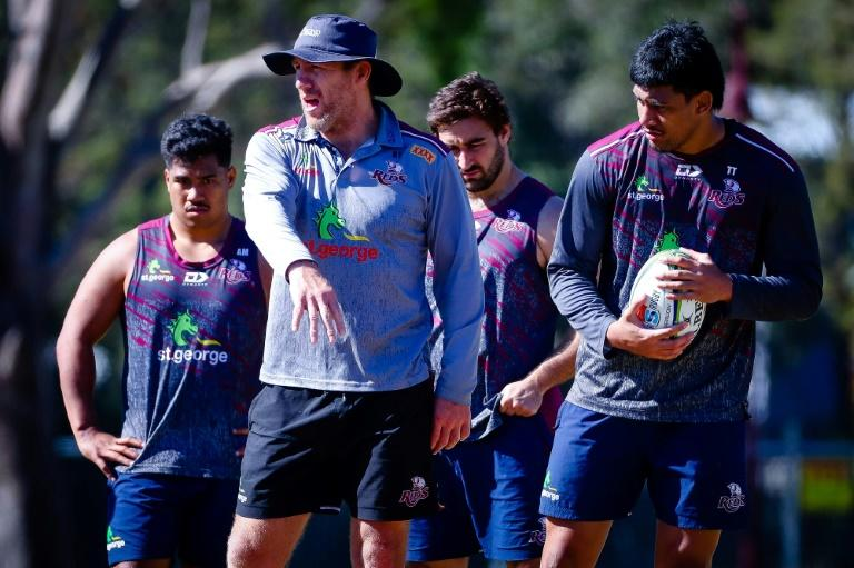 Queensland Reds head coach Brad Thorn takes training in Brisbane ahead of this week's start of Super Rugby AU