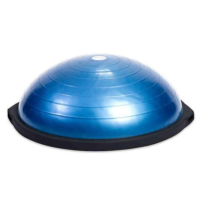 BOSU balance trainers can be used to improve balance, agility and helps build muscle.