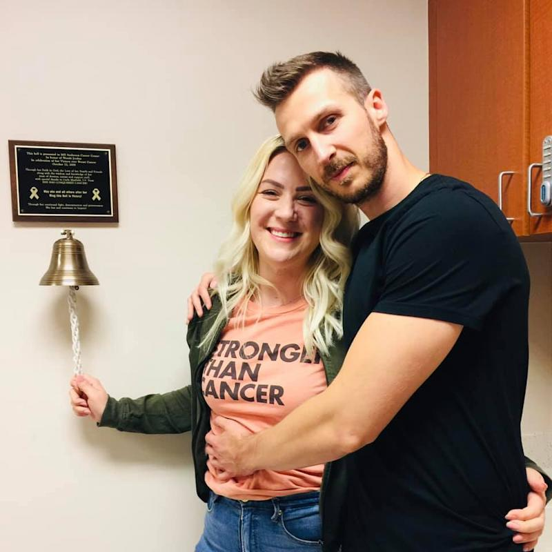 Strupp and her boyfriend, Stojan after she was diagnosed with vulva cancer