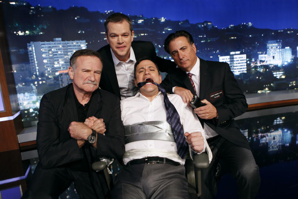 JIMMY KIMMEL LIVE - ROBIN WILLIAMS, MATT DAMON, JIMMY KIMMEL, ANDY GARCIA