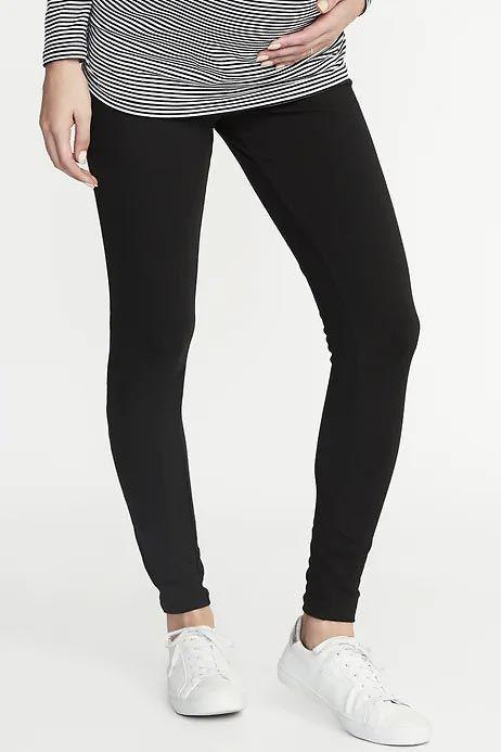 """<p><strong>Old Navy</strong></p><p>oldnavy.gap.com</p><p><strong>$18.00</strong></p><p><a href=""""https://go.redirectingat.com?id=74968X1596630&url=https%3A%2F%2Foldnavy.gap.com%2Fbrowse%2Fproduct.do%3Fpcid%3D92969%26pid%3D397313&sref=https%3A%2F%2Fwww.goodhousekeeping.com%2Fchildrens-products%2Fg33639244%2Fbest-maternity-leggings%2F"""" target=""""_blank"""">Shop Now</a></p><p>A great deal for under $20, <strong>these best-selling leggings are described as soft, stretchy, and supportive by hundreds of reviewers.</strong> Users also love the versatility: The cotton/poly jersey fabric can be worn while you're lounging at home or dressed up for a night out. This one has a full panel that goes over the belly.</p>"""