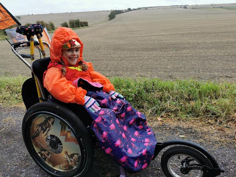 Carmela Chillery-Watson set out to walk the equivalent of 2,000km. (SWNS)