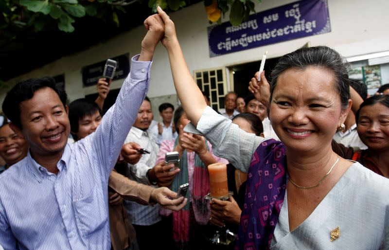 Cambodia activists urge release of unionist accused of inciting unrest