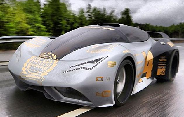 Wrestler's custom supercar rumbles with the Gumball 3000