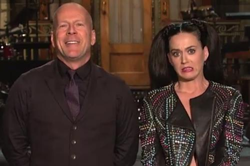 Katy Perry Flashes Bruce Willis in 'SNL' Promo (Video)