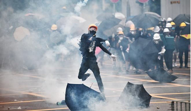 The anti-government protests appeared to have no leaders. Photo: AFP