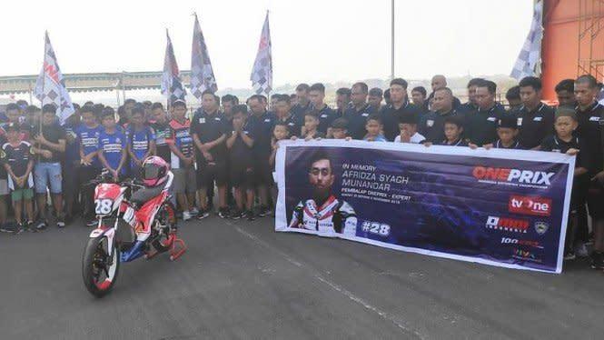 Ajang Grand Final Oneprix Haturkan Doa untuk Afridza Munandar