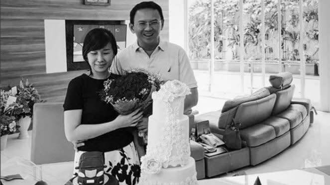 Basuki Tjahaja Purnama atau Ahok dan mantan istrinya, Veronica Tan.