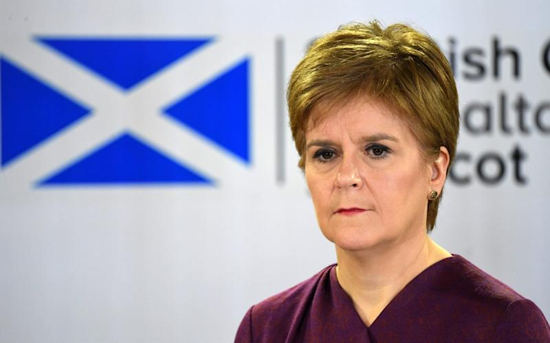Nicola Sturgeon said the figures were a 'headlien we've longed to see' - Getty Images Europe