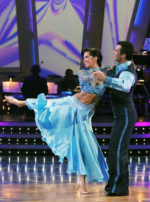 "FILE - This March 9, 2009 file image released by ABC shows former ""The Bachelor"" contestant Melissa Rycroft and her partner Tony Dovolani performing on the celebrity dance competition series, ""Dancing with the Stars,"" in Los Angeles. Rycroft stars in the CMT reality show called ""Melissa & Tye."" (AP Photo/ABC, Kelsey McNeal, file)"