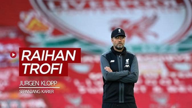 VIDEO: Antar Liverpool Juara Premier League, Ini Raihan Trofi Jurgen Klopp Sepanjang Karier