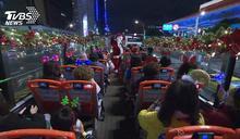 來台北搭「觀光雙層巴士」 敞篷體驗繞行耶誕城