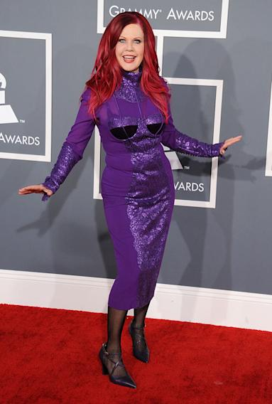 The 55th Annual GRAMMY Awards - Arrivals: Kate Pierson of the B-52's