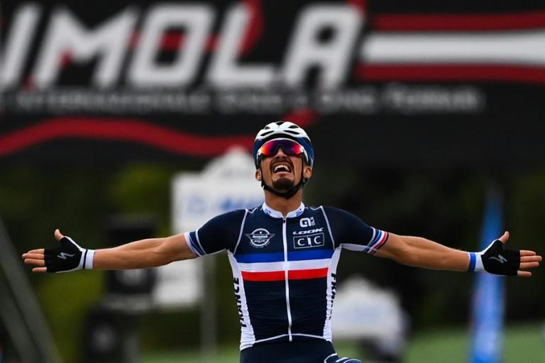 'Dream come true': Alaphilippe in rainbow jersey after world title win