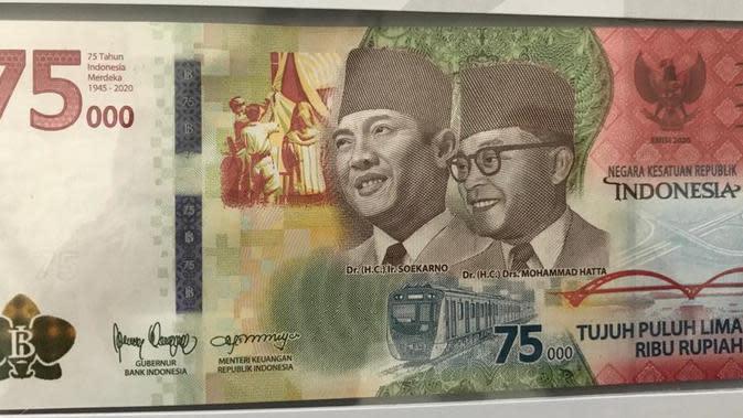 Uang baru edisi khusus Kemerdekaan Indonesia.