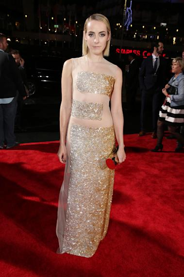 Jena Malone seen at Lionsgate's 'The Hunger Games: Catching Fire' Los Angeles Premiere, on Monday, Nov, 18, 2013 in Los Angeles. (Photo by Eric Charbonneau/Invision for Lionsgate/AP Images)