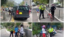 警大埔打擊不小心騎踏單車及違泊 共發45張傳票