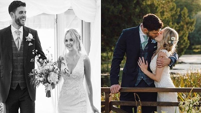 Photo of Lissie Harper and Andrew Harper on their wedding day