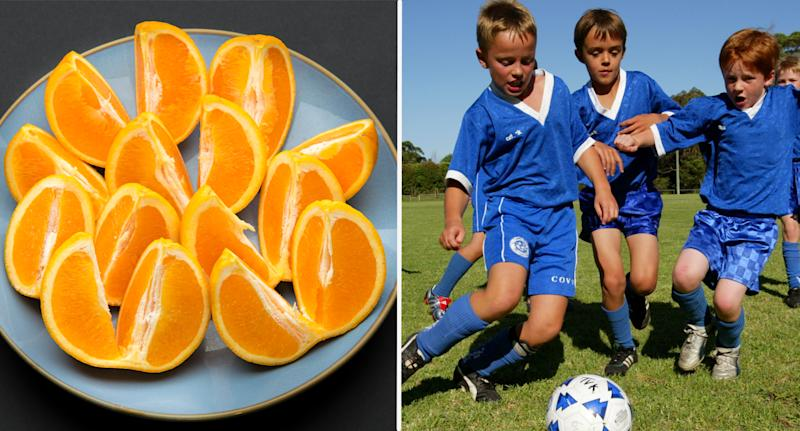 It's the Aussie way, but should we stay away from oranges at halftime? Source: AAP