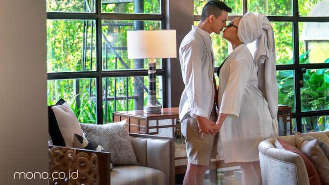 Ucapan terima kasih juga disampaikan Nabilan melalui akun instagramnya. Selama menikah, sang suami dengan sabar membantunya. (Instagram/marcelldarwin)