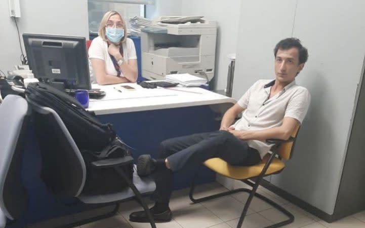 Sukhrob Karimov, an Uzbekistan native, has a history of mental issues, officials said - The Ukrainian Ministry of Interior via Reuters