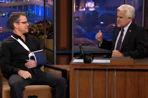 Matt Damon Explains Broken Collarbone on 'Tonight Show': I Was Showing Off (Video)