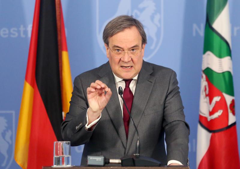 North Rhine Westphalia State Premier Armin Laschet statement on the spread of the new coronavirus disease (COVID-19) in Duesseldorf