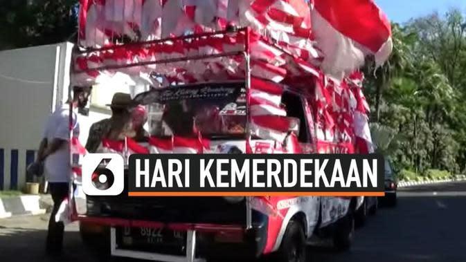 VIDEO: Peringati Kemerdekaan, Kakek ini Membawa Ribuan Bendera dari Bandung Hingga Bali