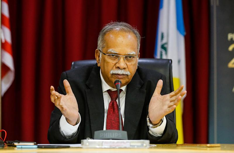 P. Ramasamy speaks to the press in George Town October 2, 2019. — Picture by Sayuti Zainudin