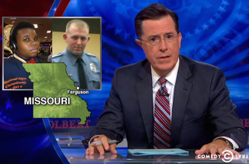 Stephen Colbert Says Ferguson Mess Had Nothing to Do With Racism