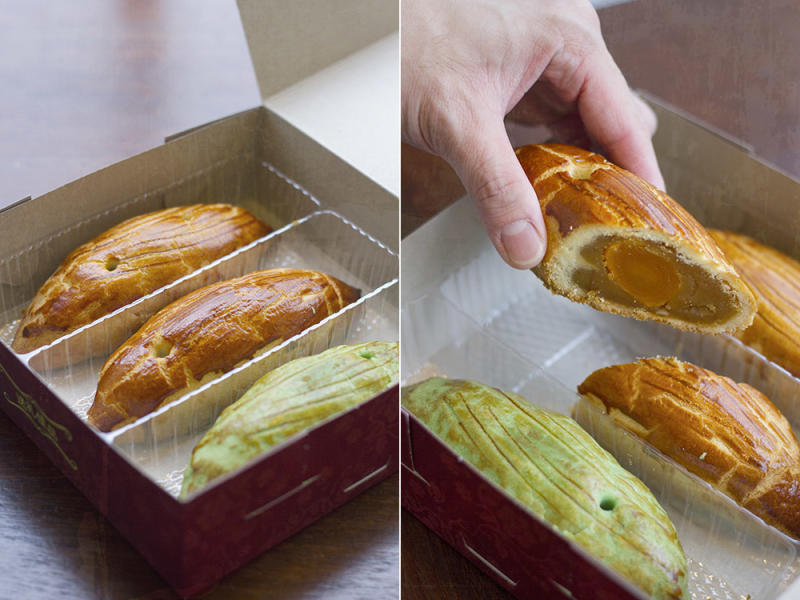 The buttery mooncakes of Kluang are not round or square, but oval in shape.